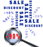 Magnifying Glass Sale Poster Royalty Free Stock Photography