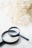 Magnifying glass, Search and discover symbol Royalty Free Stock Photos