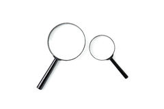 Magnifying glass, Search and discover symbol Stock Images