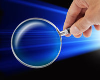 Magnifying Glass Security Technology Stock Photography