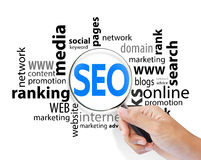 Magnifying Glass with SEO search