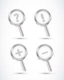 Magnifying glass set Stock Image