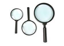 Magnifying glass set. On white background royalty free stock image
