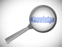 Magnifying glass showing knowledge Stock Photo