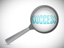 Magnifying glass showing success word Stock Photography