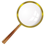 Magnifying glass single Royalty Free Stock Photos