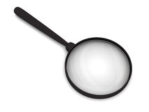 Magnifying glass with soft shadows Royalty Free Stock Image