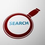 Magnifying glass. Stock illustration. Royalty Free Stock Photo