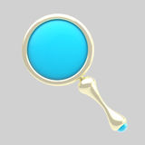 Magnifying glass stylized icon isolated on grey Stock Image