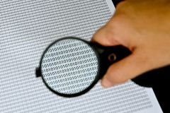 Magnifying glass with success word Stock Image