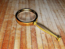 Magnifying glass on the table Stock Photo