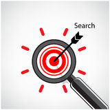 Magnifying glass and target concept background Stock Photography