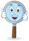Magnifying Glass Thumbs Up Character Stock Image