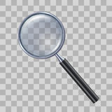 Magnifying glass on transparent background. Stock Photography