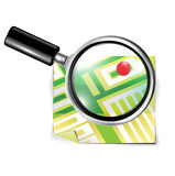 Magnifying glass and travel map Royalty Free Stock Photo