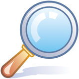Magnifying glass vector icon Royalty Free Stock Photography