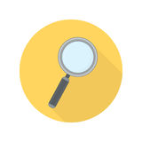 Magnifying glass vector icon. stock illustration