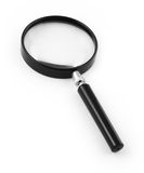 Magnifying glass on white Stock Photo