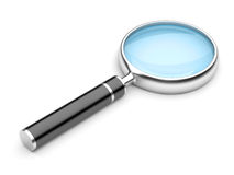 Magnifying Glass,  On White Background. Stock Photo