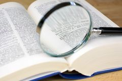 Magnifying glass on the word Love Royalty Free Stock Photos