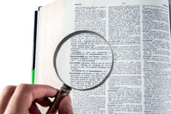 A magnifying glass on the word successful Stock Photography