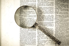 A magnifying glass on the word successful Royalty Free Stock Images