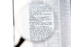 A magnifying glass on the word successful Royalty Free Stock Image