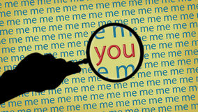 Magnifying glass. You and Me Stock Photography
