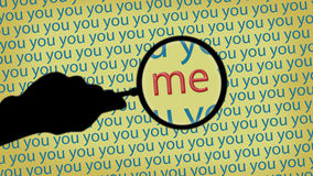 Magnifying glass. You and Me Royalty Free Stock Images