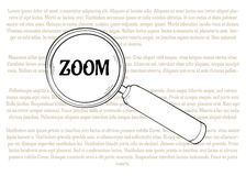 Magnifying glass and zoom Stock Photo