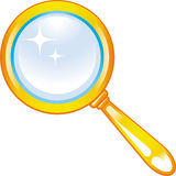 Magnifying glass - Zoom (Vector) Royalty Free Stock Image