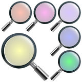 Magnifying glasses Royalty Free Stock Images