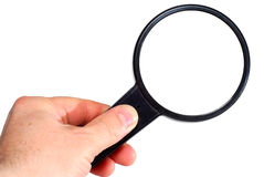 Magnifying gless Royalty Free Stock Images