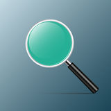 Magnifying With green Glass for you design, Vector. Illustration Royalty Free Stock Photography