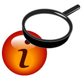 Magnifying information icon Royalty Free Stock Photo