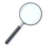 Magnifying lens Royalty Free Stock Images