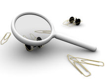 Magnifying PaperClip Autos Stock Images