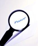 Magnifying Peace Stock Photos
