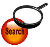 Magnifying search icon Stock Images