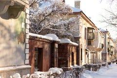 Magnitogorsk. Gorky street. Historic centre. Winter city royalty free stock image