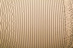 Magnitudo lines of earthquake stock images