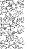 Magnolia Naadloze Grens vector illustratie