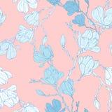 Magnolia flower pattern royalty free illustration