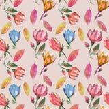 Magnolia sul modello per il tessuto Fotografia Stock