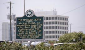 Magnoliowa trasa, Gulfport Mississippi zdjęcia stock