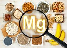 Magnésium en nourriture Images stock