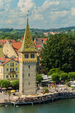 Magnturntoren in Lindau Bodensee Duitsland stock foto
