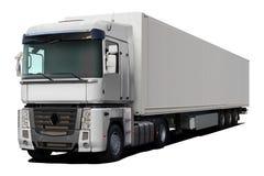 Magnum branco de Renault do caminhão fotografia de stock
