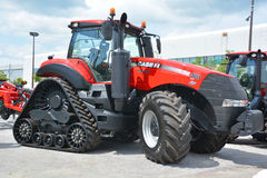 Magnum 380 CVT tractors. SAINT HYACINTHE QC CANADA JULY 25 2015: Case IH most powerful Magnum 380 CVT tractors offering producers the ultimate mix of industry Stock Image