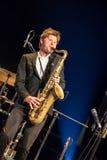 Magnus Lindgren at Kaunas Jazz 2015 Royalty Free Stock Images